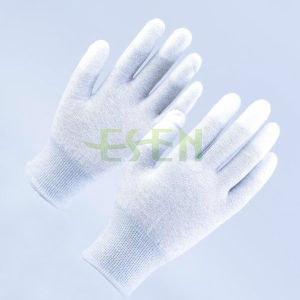 PU Finger Coated 13gauge Carbon Fiber ESD Gloves /Work Gloves /Safety Gloves China Suppliere pictures & photos