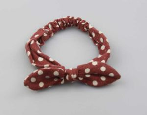 Fashion Red Based White DOT Printed Bow Headwrap Fashion Hair Accessories pictures & photos