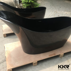 China Wholesale Black Solid Surface Soaking Bath Tub (BT1706217) pictures & photos
