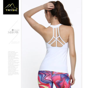 Women Yoga Stringer Gym Vests Fitness Tank Tops for Ladies pictures & photos