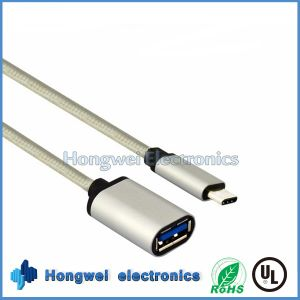 USB3.1 C Type Male to USB 3.0 a Female OTG Extension USB Cable pictures & photos