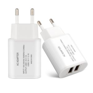 Dual USB Port European EU Universal Travel Home Wall Charger pictures & photos