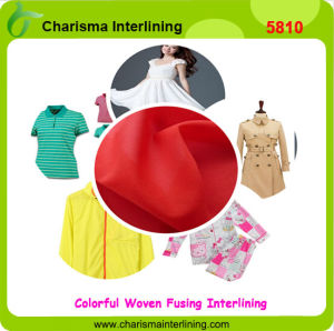 China Factory Plain Weave Dress Woven Fusible Knitted Interlining pictures & photos