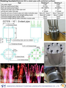 Outdoor Stainless Steel Rotating Fountain Nozzles with Music Control pictures & photos