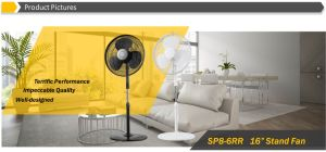 "16"" Oscillating Stand Fan, Pedestal Fan with Round Base pictures & photos"