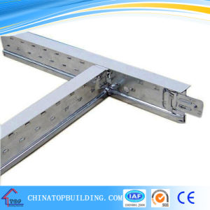 Flat Suspended Ceiling T Grid 24*32*0.4mm/Alloy Head Ceiling T Bar pictures & photos