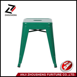 "Patterson Metal Backless Stool Fully Assembled 18"" Solid Green 4 Pack pictures & photos"