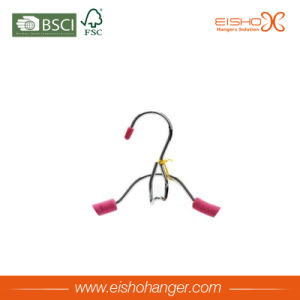 High Quality Foamed Rubber Metal Hanger with Chrome Clips pictures & photos