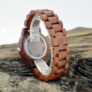 Fashion Sun Grain Wooden Precious Stone Watch pictures & photos