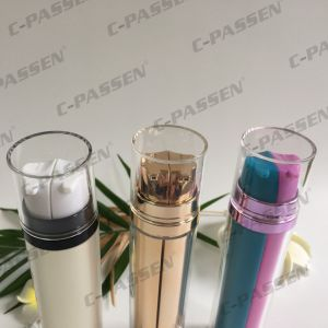 Double Pump Acrylic Airless Bottle for Cosmetic Packaging (PPC-AAB-040) pictures & photos