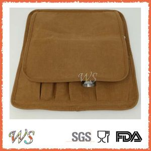Ws-Ca02 Easy Carrying Brown Canvas Cloth Roll-up Cocktail Bar Accessories Cocktail Set pictures & photos