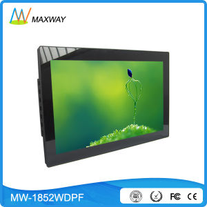 16: 9 Resolution 1366X768 18 Inch WiFi Digital Photo Frame with Weather Station pictures & photos