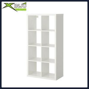 White Finish Wood Wall 5-Tier Corner Bookshelf pictures & photos