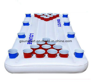 Inflatable Beer Pong Float Pool Drinking Game Cooler Box