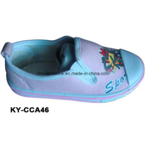 China Wholesale Kids Comfort Casual Shoes Supplier Canvas Upper Injection Sole pictures & photos