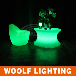 Fashionable Plastic Illuminated LED Club Furniture Bar Table pictures & photos
