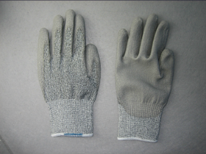 Cut Resistant 13G Hppe Liner Grey PU Glove (5529-CUT5) pictures & photos