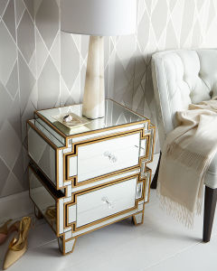 Hobby Lobby Luxury Mirror Bedroom Furniture Bedside Table pictures & photos
