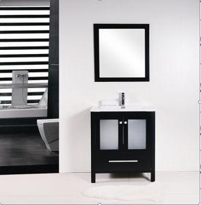 Black Matt Single Drawer Chipboard Painting Bathroom Cabinet