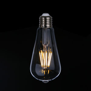 Energy Saving Light St64 E27 6W LED Filament Bulb pictures & photos