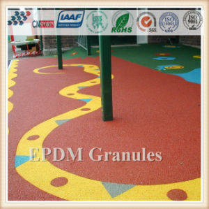 Cheap Outdoor Rubber Flooring, EPDM Rubber Granule for Children Playground pictures & photos