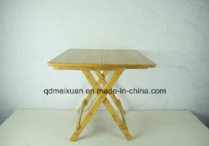 Bamboo Fold Table Square Table Dining Table (M-X3834) pictures & photos