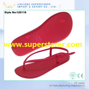 New Arrival Durable and Anti-Slip PE Flip Flops Women Shoes pictures & photos