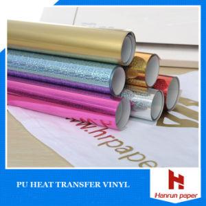 Glitter Heat Transfer PU Vinyl for Cotton Garment pictures & photos