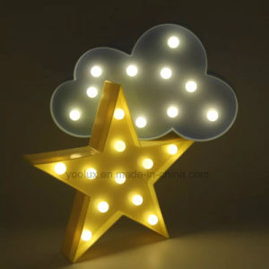 Walmart Plastic Battery Operated Star LED Symble Vintage Marquee LED Lights pictures & photos
