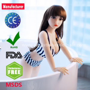 100cm Lifelike Real Silicone Mini Sex Doll with Big Breast Oral Sex Toys for Male pictures & photos