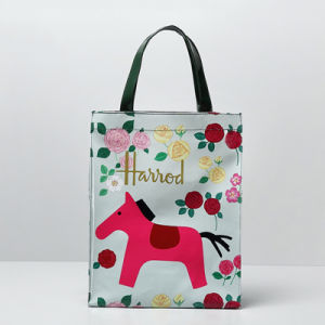 Red Horse Pattern Medium Size Canvas Shopping Bag (H008-9) pictures & photos