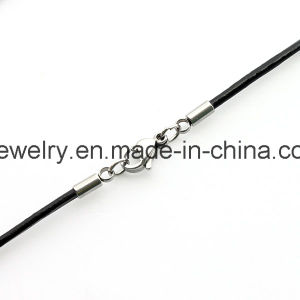 High Quality Metal Clasp Leather Necklace pictures & photos