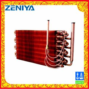 Low Power Copper Tube Copper Fin Condenser Coil for AC Outdoor Unit pictures & photos