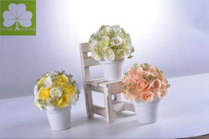 Artificial Rose Bouquet in Ceramic Pot for Gift pictures & photos