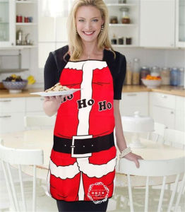 2016 Personality Funny Novelty Santa Claus Apron (80013) pictures & photos