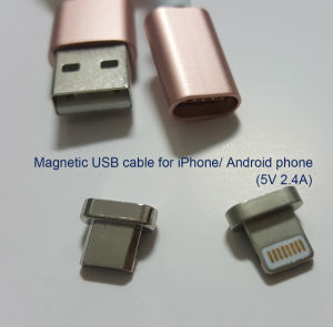 Magnetic USB Cable for iPhone 8 Pin Lightning Jack and Android Phone pictures & photos