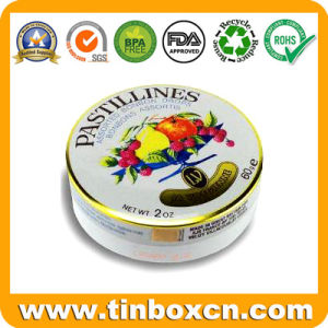 Custom Round Tin Can, Tin Box, Food Tin, Metal Tin Packaging for Candy, Chocolate, Cookie, Biscuit and Snack pictures & photos