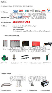 Soundproof Canopies 1000kVA Diesel Generator Silient Type pictures & photos