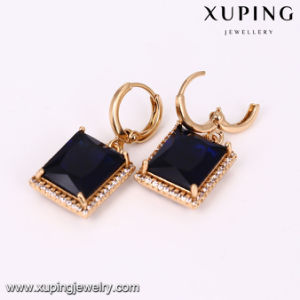 64144 Fashion Gold Plated Square CZ Women′s Jewelry Set pictures & photos