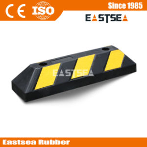 Black & Yellow Rubber Reflective Wheel Stopper (DH-PB-4) pictures & photos