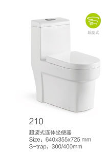 210 Siphonic One-Piece Toilet New Model pictures & photos