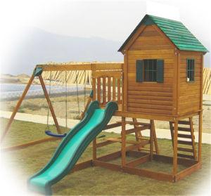 Children Toys Outdoor Used Playground Equipment Children Wooden Playground (10)