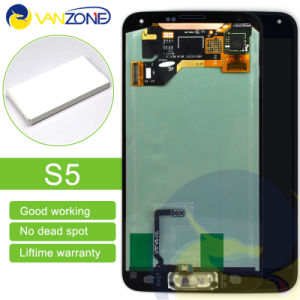 High Quality for Samsung S5 I9600 LCD Display with Home Button Touch Screen Digitizer G9001 G900r G900f pictures & photos