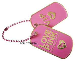 Promotion Gift Printing Dog Tag with Ball Chain pictures & photos