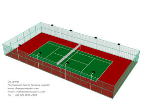 Spu Tennis Court Made of PU Cushion Layer Combine with Acrylic Surface Layer pictures & photos