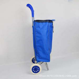 Factory Price Red Shopping Grocery Foldable Cart pictures & photos
