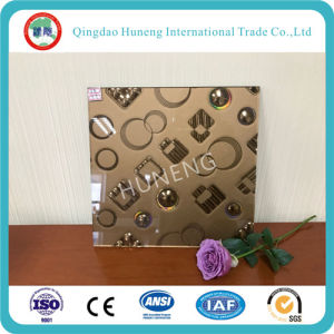Anti-Fingerprint Acid Etched Glass with Flower Design pictures & photos