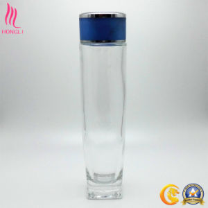 Glass Perfume Bottle for Skin Care Lotion with Navy Lid pictures & photos