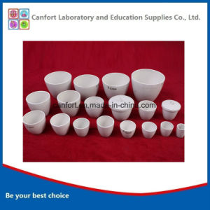 Porcelain Refractory Medium Wall Crucible for Laboratory pictures & photos