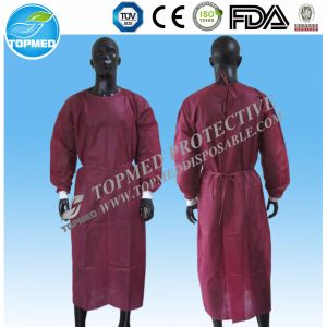 Medical Elastic Cuffs Eo-Sterilized Hot Sale Isolation Gown/Surgical Gown pictures & photos